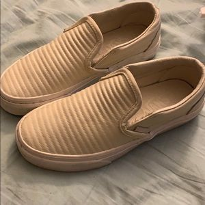 Off white leather vans